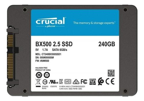 ssd crucial bx500 2.5  240gb sata iii 500 mb/s novo c/ nota