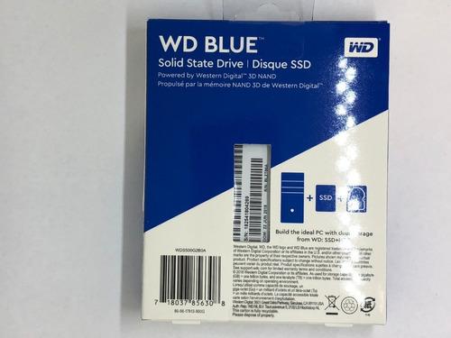 ssd disco de estado solido western digital  500gb
