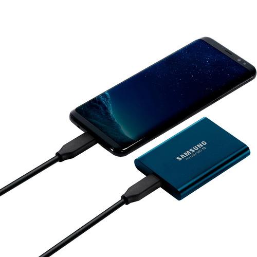 ssd externo 1.8 samsung portable t5 500gb usb 3.1