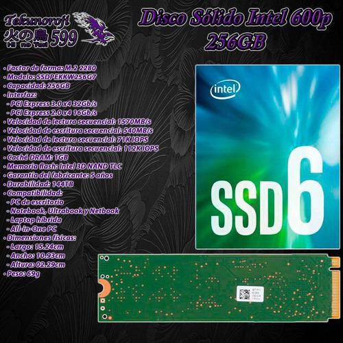 ssd intel 600p 256gb m.2 2280 pcie 3.0 x4 32gb/s