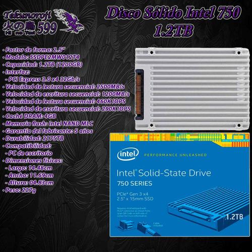ssd intel 750 1.2tb 1200gb 2.5'' pcie 3.0 x4 32gb/s