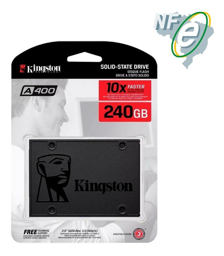 ssd kingston 240gb ssdnow a400 sata 3 6gb/s 500mb/s + nfe