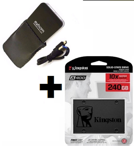 ssd kingston a400 240gb sata 6gb/s + case usb 3.0