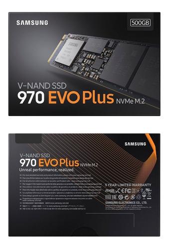 ssd m.2 2280 samsung 970 evo plus 500gb pcie 3.0 x4