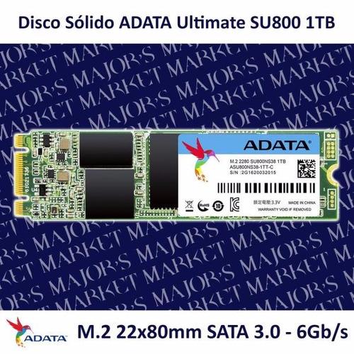 ssd m.2 22x80mm adata ultimate su800 1tb sata 3.0 - 6gb/s