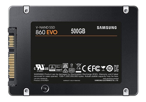 ssd samsung 860 evo 500gb mz-76e500b/am