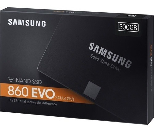ssd samsung 860 evo 500gb v-nand sata3 6gb/s 2,5 550mb/s