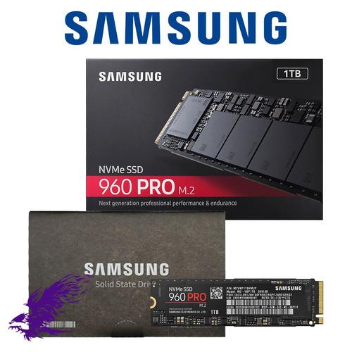 ssd samsung 960 pro 1tb m.2 2280 pcie 3.0 x4 - 32gb/s