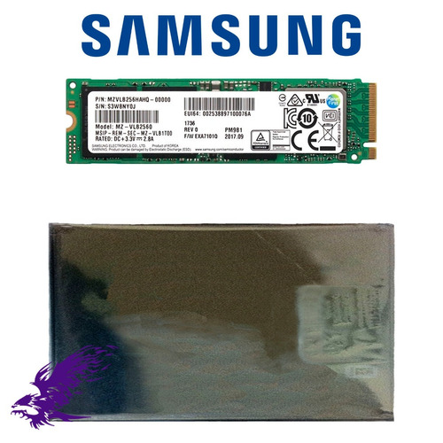 ssd samsung pm981 256gb m.2 2280 pcie 3.0 x4 - 32gb/s