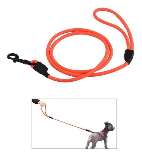 ssl012p pvc redondo correa de perro impermeable