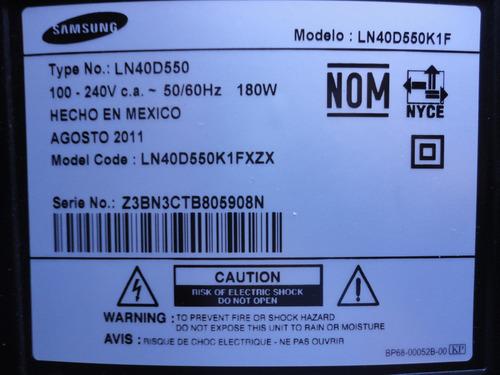 sst400_12a01 tarjeta inverter mod.ln40d550k1f samsung