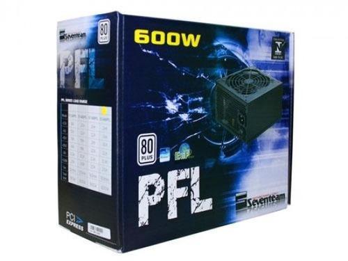 st-600pfl fonte seventeam atx 600w reais pfc ativo