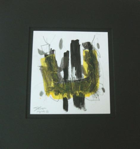 s/t i, grafito y acrílico / papel, 12 x 11 cm. firmado