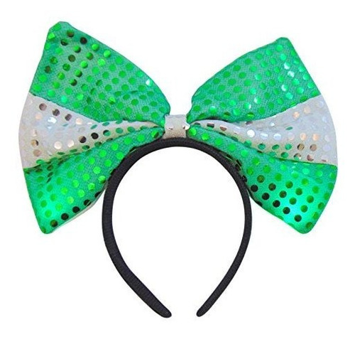 st patrick y apos; s day light up hair bow accesorio señora
