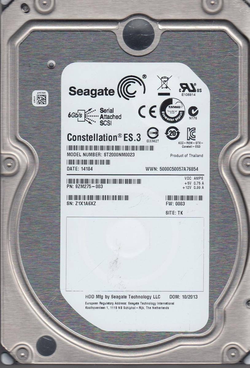 DISCO RIGIDO 2TB SEAGATE HDD SAS SCSI - PULL