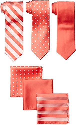 stacy adams - paquete de 3 hombres, corbatas de satén, punto