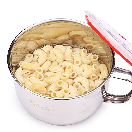 stainless steel ramen sopa de fideos pasta bowl y cocina de