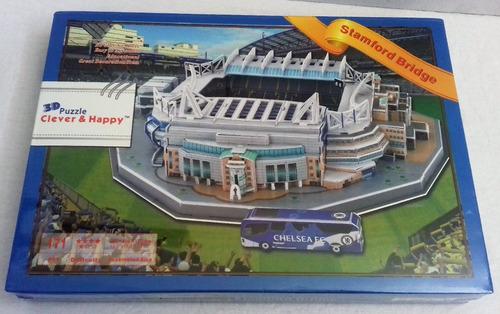 stamford bridge stadium, rompecabezas en 3d