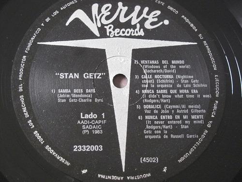 stan getz jazz history verve argentina 1983 bossa nova lp