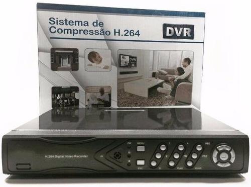stand alone p/ 8 canais (cameras) dvr h.264 240fp celular