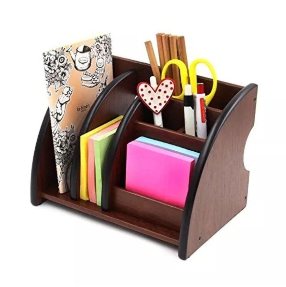 Stand organizador de madera para escritorio u oficina for Escritorios de madera para oficina