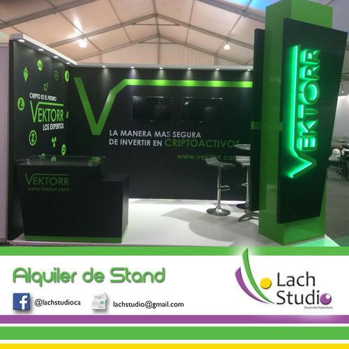 stand para expo y escenografia para eventos corporativos, tv