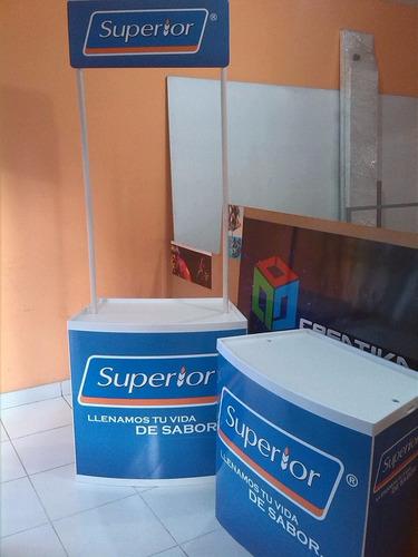 stands-counters mesa portátiles$94 con publicidad