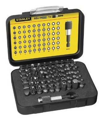 stanley 1-13-902 bit - set con soporte para brocas (61 pieza