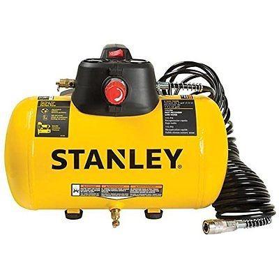 stanley 2 galones 115 psi portátil eléctrico aire compresor