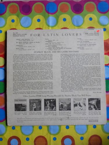 stanley black lp for latin lovers. 1957 importado usa.