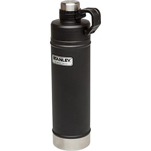 stanley classic botella de agua al vacío, negro mate, 25 oz