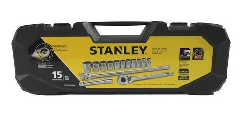 stanley juego tubos 15 piezas excel. calidad enc. 1/2  milim
