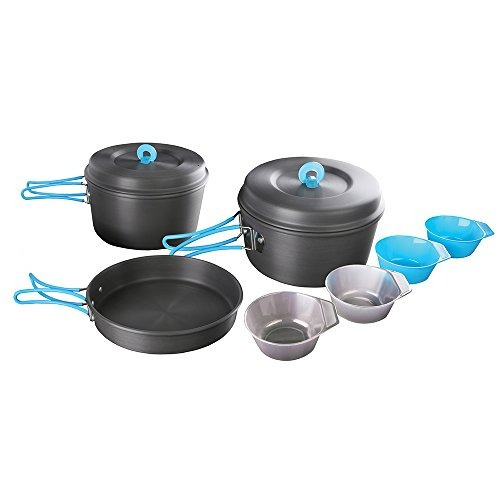 stansport hard anodized aluminium 4 person cook set