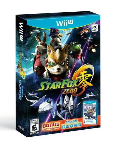star fox zero 3 wii u + star fox guard novíssimos