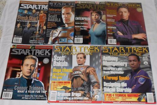star trek communicator lote enterprise 7 revistas importadas