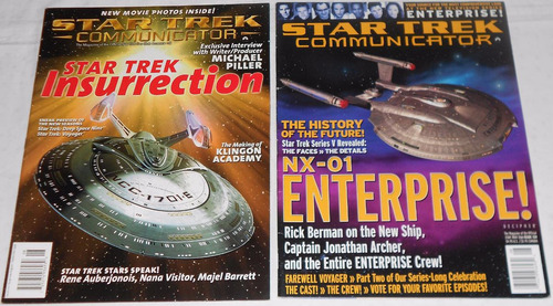 star trek communicator lote spaceships 6 revistas importadas