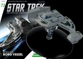 star trek eaglemoss collection  borg renegade vessel