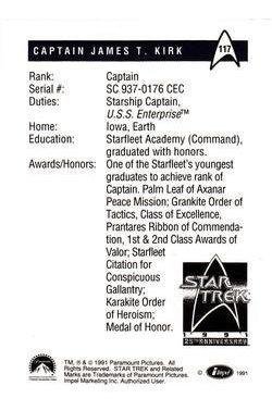 star trek official serie 1 - impel 91 25th anniversary 117