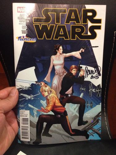 star wars #1 portada variante de fantástico firma de renaud