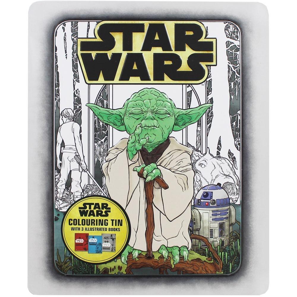 Star Wars 3 Livros De Colorir Lata Disney Promo Natal R 125