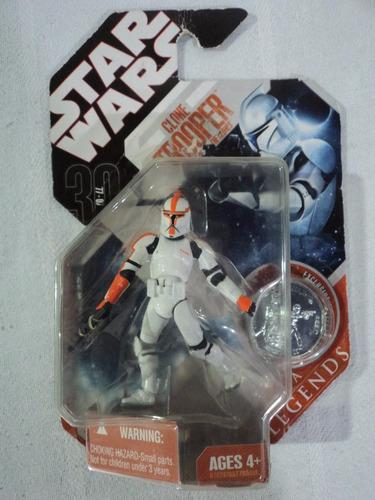 star wars 30 aniversario clone trooper variante naranja 2007