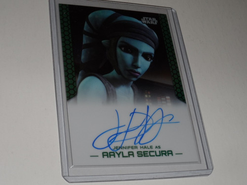 star wars aayla secura autografo original de jennifer hale