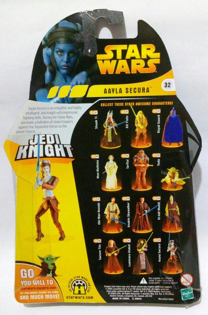 Star Wars Aayla Secura Jedi Knight # 32 Rots Hasbro 3 3/4