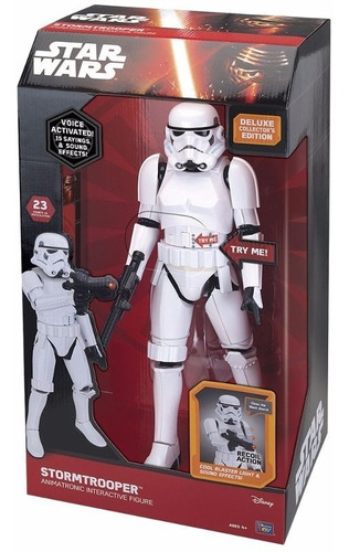 star wars animatronic stormtrooper figura interativa 40cm