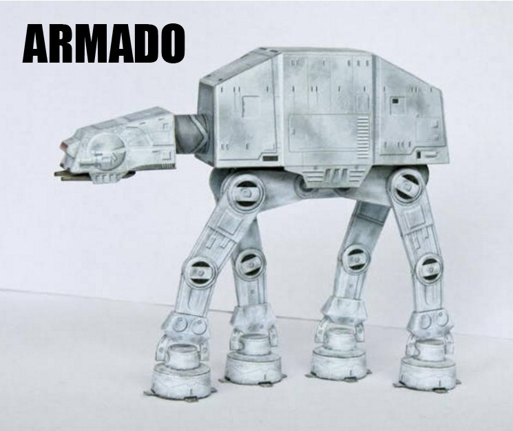 Star Wars Atat Para Imprimir Y Armar En Papel Modelismo - $ 60.00 en ...