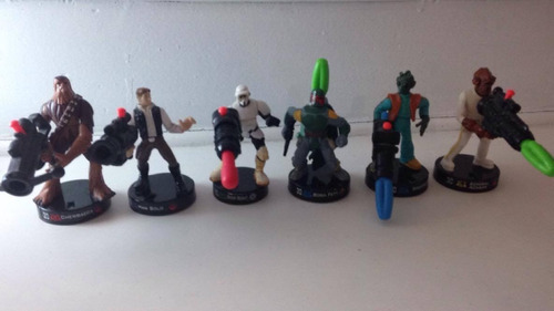 star wars attacktix lote boba feet  han solo chewbacca etc.