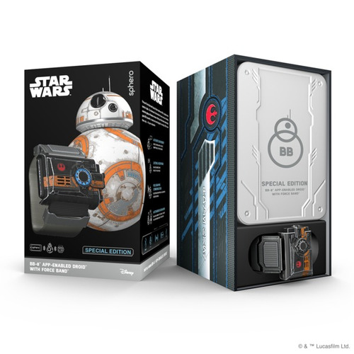 star wars bb8 droide + force band sphero special edition