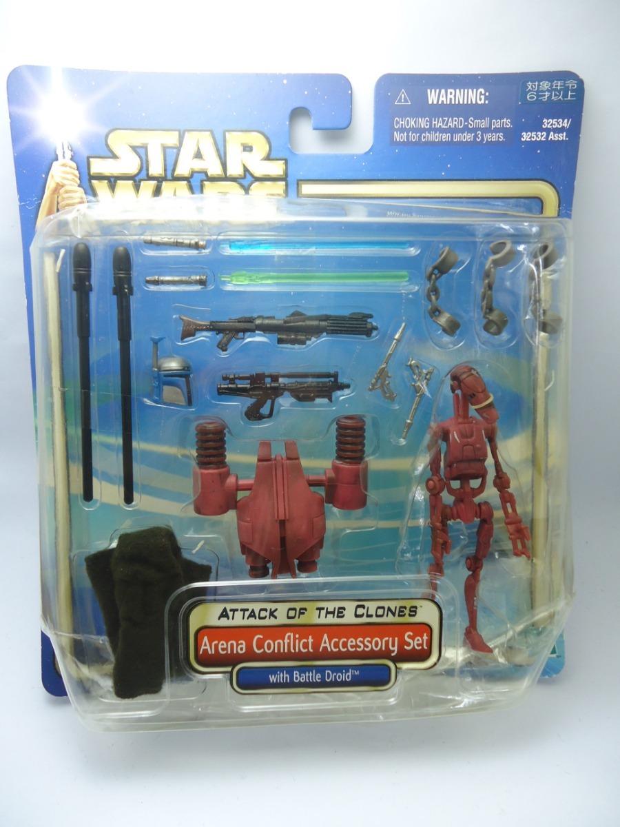 06ba8a12de152e Star Wars Boneco Arena Conflict Accessory Set Aotc Saga 1/18