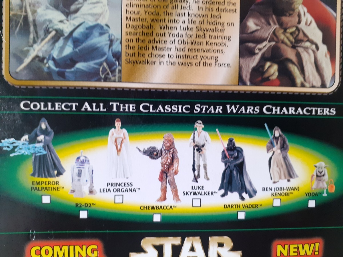 "Novo Star Wars Power Of The Force 3.75/"" dagoba Luke Skywalker Boneco Lacrado"