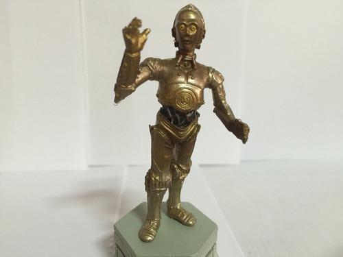 star wars: c3po, miniatura em metal de 8.5 cm, oficial